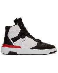 Givenchy Black And White Wing High Trainers