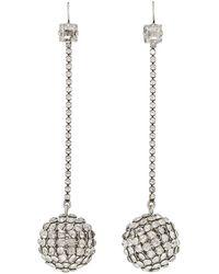 Isabel Marant - Silver Disco Ball Earrings - Lyst