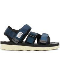 Suicoke Navy And Black Kisee-v Sandals - Blue