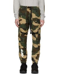 Off-White c/o Virgil Abloh - Green Camo Parachute Cargo Pants - Lyst