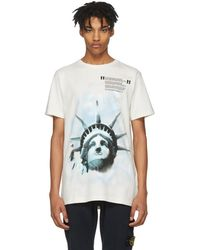 Off-White c/o Virgil Abloh - Liberty T-shirt - Lyst