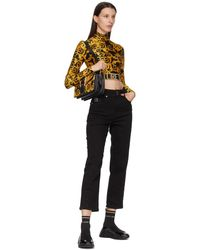 Versace Jeans Couture ブラック Barocco New ロゴ タートルネック