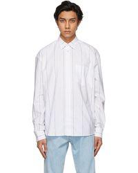 Etudes Studio White Striped Address Shirt