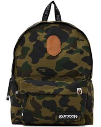 A Bathing Ape Outdoor Products エディション グリーン 迷彩 1st Day バックパック
