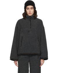 Juun.J Gray Teddy Zip-up Sweater - Multicolor