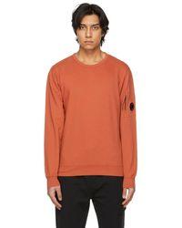 C.P. Company - オレンジ Garment-dyed スウェットシャツ - Lyst