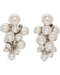Lanvin - White Pearl Drop Earrings - Lyst