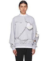 HELIOT EMIL Grey Removable Layers Sweatshirt