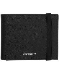 Carhartt WIP ブラック コーティング バイフォールド ウォレット