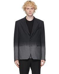 Givenchy - ブラック & グレー ウール フェード ブレザー - Lyst