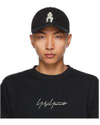 Yohji Yamamoto Casquette noire Logo Print edition New Era