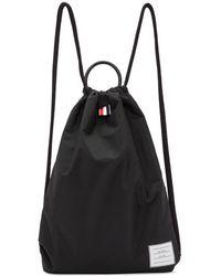 Thom Browne Black Drawcord Handle Backpack
