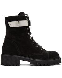 Giuseppe Zanotti ブラック スエード Alexa ブーツ