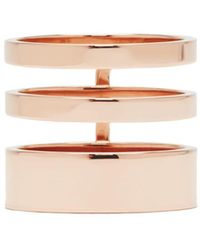 Repossi Rose Gold Triple Band Berbere Ring - Metallic