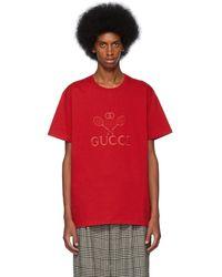 Gucci - レッド オーバーサイズ テニス クラブ T シャツ - Lyst