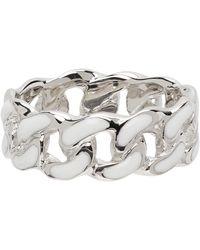 A.P.C. Silver Sam Ring - Metallic