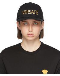 Versace ブラック ロゴ キャップ