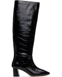 3.1 Phillip Lim ブラック クロコ Tess トール ブーツ