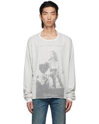 Enfants Riches Deprimes T-shirt à manches longues 'my first orgasm' gris - Blanc