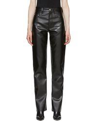 Kwaidan Editions - Black Faux-leather Biker Trousers - Lyst