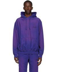 AWAKE NY Purple Sun-bleached Logo Hoodie