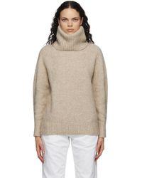 Loulou Studio ベージュ オーバーサイズ セーター - ナチュラル