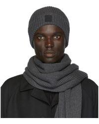 BOSS - Ensemble de bonnet et foulard gris Gianto - Lyst