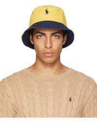 Polo Ralph Lauren イエロー & グリーン ロゴ バケット ハット - マルチカラー