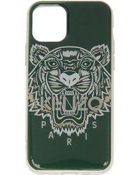 KENZO グリーン Tiger Iphone 11 Pro ケース