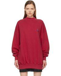 Balenciaga レッド ロゴ スウェットシャツ