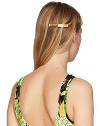 Fendi Gold & Orange 'forever ' Hair Clip - Multicolor