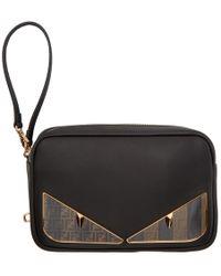 Fendi - Pochette camera noire Bag Bugs - Lyst