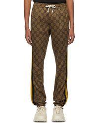 Gucci ブラウン GG ストライプ ラウンジ パンツ - マルチカラー