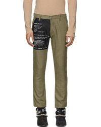 Enfants Riches Deprimes Brown And Black Wool Check Contrast Patch Pants