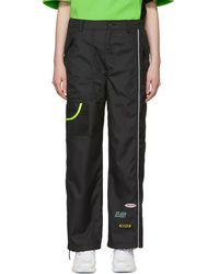 ADER error Ssense Exclusive Black Ascc Panelled Trousers