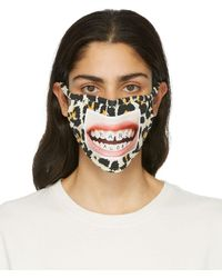 Marc Jacobs @hey_reilly エディション ベージュ The Mask フェイス マスク - メタリック
