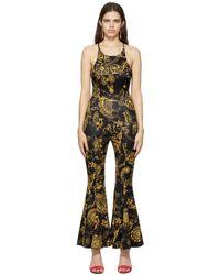 Versace Jeans Couture Regalia Baroque Print Jumpsuit - Black