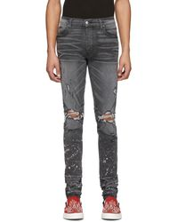 Amiri Grey Bleach Splatter Jeans - Gray