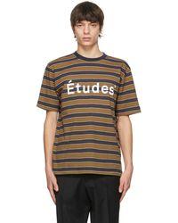 Etudes Studio マルチカラー ストライプ Wonder T シャツ