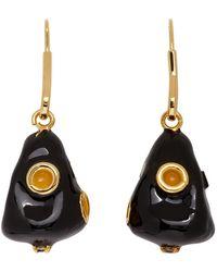 Marni Drop Earrings - Black