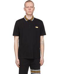 HUGO ブラック Damago ポロシャツ
