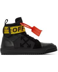 Off-White c/o Virgil Abloh Ssense Exclusive Black Industrial High-top Sneakers