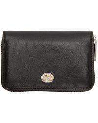 Gucci - Black Interlocking G Zip Around Wallet - Lyst