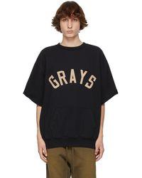 Fear Of God ブラック Grays 3/4 Sleeve スウェットシャツ