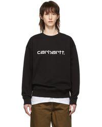 Carhartt WIP ブラック Script スウェットシャツ