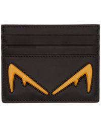 Fendi ブラック バッグ バグ カード ホルダー