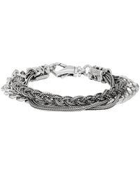 Emanuele Bicocchi Silver Chain Braided Bracelet - Metallic
