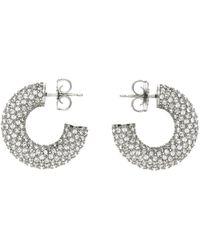 AMINA MUADDI Mini boucles d'oreilles à anneaux cameron argentées - Métallisé