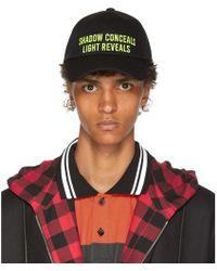 Juun.J - Black And Yellow Shadow Conceals Cap - Lyst