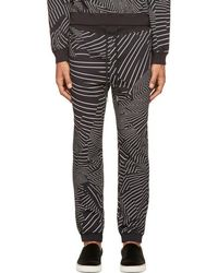 Christopher Kane - Black & White Deconstructed Stripe Lounge Pants - Lyst